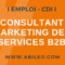 Rech. Consultant Marketing des Services B2B